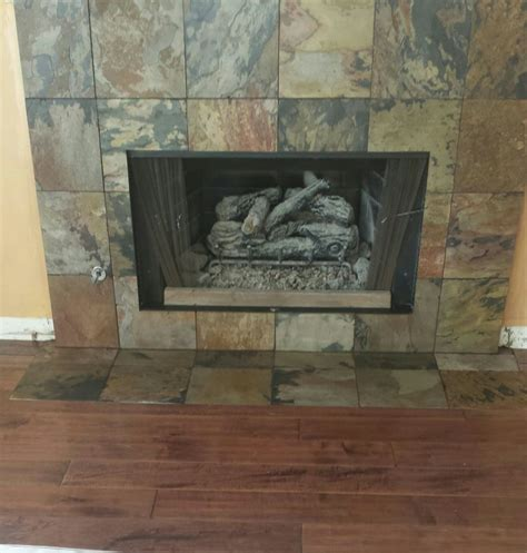 Slate Tiles For Fireplace Hearth by Multicolor Slate Fireplace Hearth The Hearth