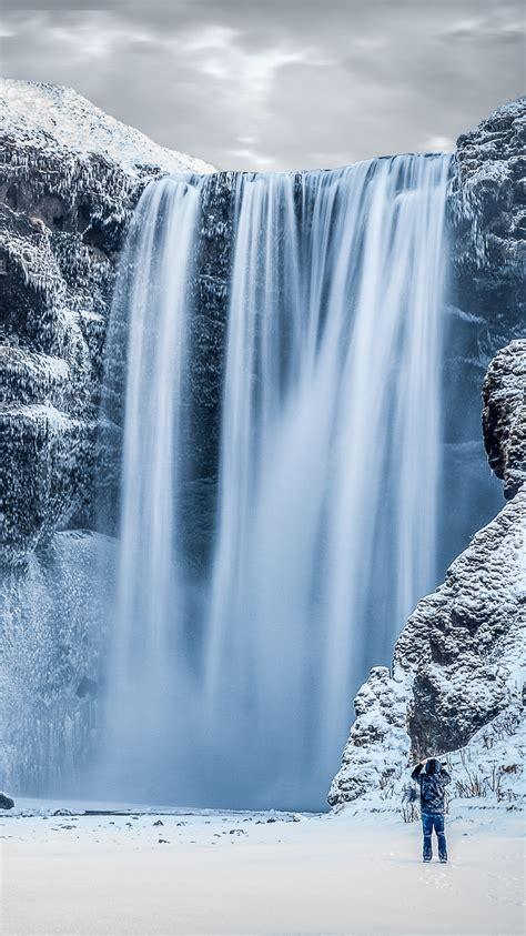 frozen waterfall wallpaper frozen waterfall iphone wallpaper hd