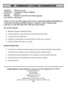Personal Summary Resume Sle by Exle Cover Letter For Family Support Worker Cover