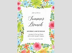 Summer blossom - Pool Party Invitation Template (Free ... Free Clipart First Day Of Summer