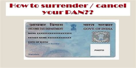 pan card cancellation letter format how to your pan pan cancellation form