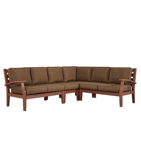 hton bay woodbury sofa hton bay woodbury patio sofa with textured sand cushion