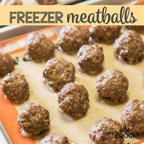homemade frozen meatballs recipes that crock