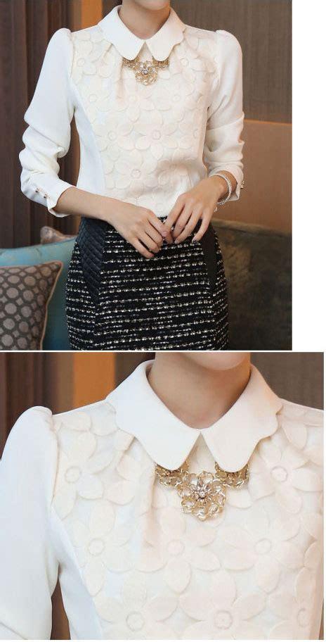 Blouse Bunga Bunga blouse wanita bunga bunga putih model terbaru jual