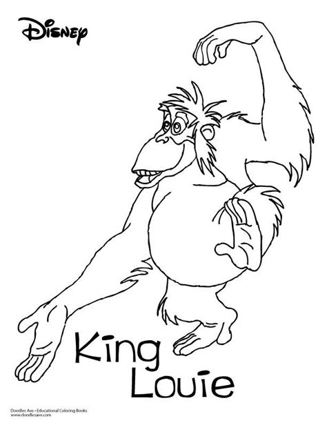 king coloring book jungle book coloring sheet king louie delightful doodles