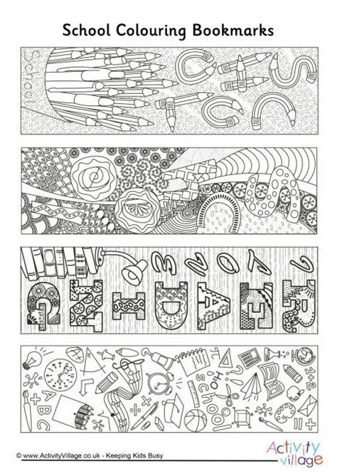 doodle 4 template printable school doodle colouring bookmarks printables