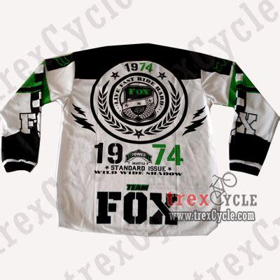 Kaos Jersey Sepeda Downhill Fox Hijau Stabilo Murah trexcycle indonesia toko aksesoris sepeda baju