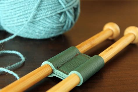 diy leather knitting needle holder the crafty gentleman