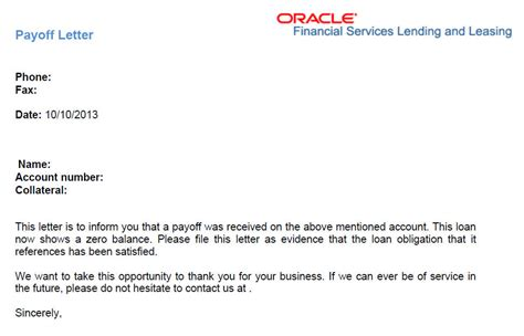 Customer Open Balance Letter Oracle 4 Customer Service