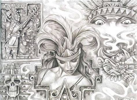 aztec tattoo art aztec drawings pictures lowrider arte aztec