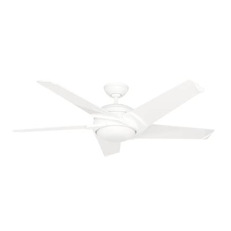 casablanca fan company 59165 casablanca stealth dc 54 in led indoor white ceiling fan