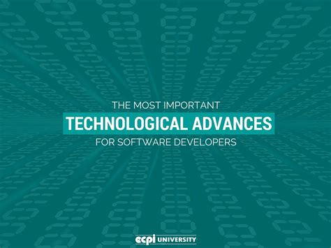 important technological advances  software
