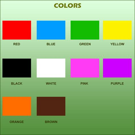 Basic Colours For Kids Www Imgkid Com The Image Kid Has It Color For
