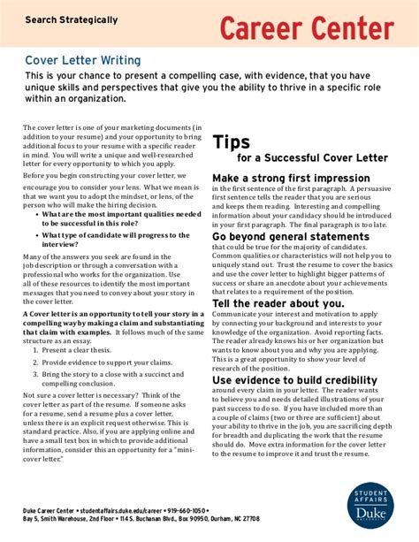 writing a compelling cover letter writing a cover letter