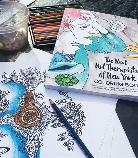 The Real Therapists Of New York Coloring Book coloring books therapy and coloring bars