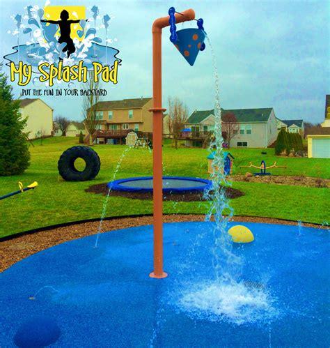 playground padding for backyard home splash park in caledonia michigan installed by my