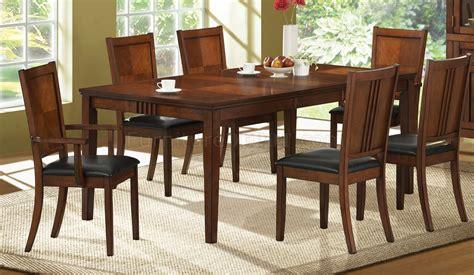 medium cherry finish transitional dining room