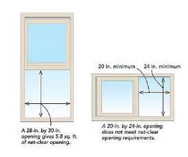 egress windows understanding net clear opening