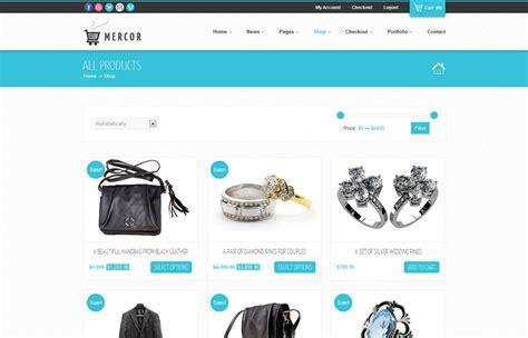 wordpress ecommerce themes mercor responsive woocommerce theme by gljivec themeforest