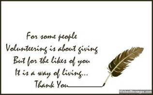 thank you letter appreciation volunteers quotes