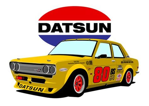 Poster Retro Otomotif datsun 510 race cars and i miss you on