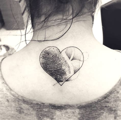 fingerprint tattoo heart with finger impression