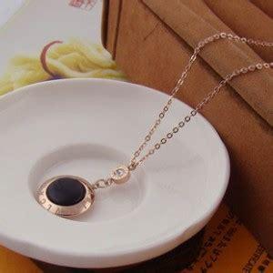 Kalung Chanel Titanium kalung bvlgari branded perhiasan trendy