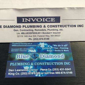 Blue Diamond Plumbing & Construction   17 Photos & 10 Reviews   Plumbing   Federal Way, WA
