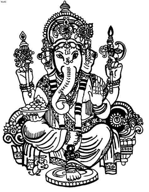 printable ganesh images ganesh drawing cliparts co