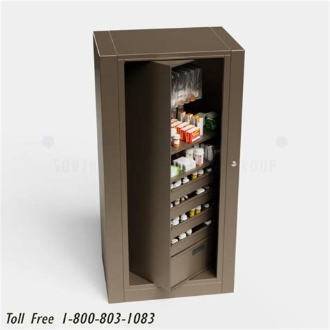 narcotic cabinet for pharmacy pharmacy rotary cabinets locking medication drawers