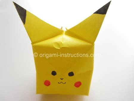 Origami Pikachu Box - image gallery origami pikachu