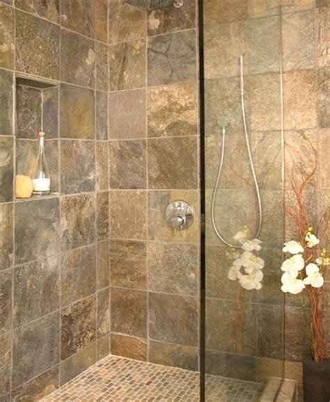 slate bathroom shower slate bathroom tile pinterest