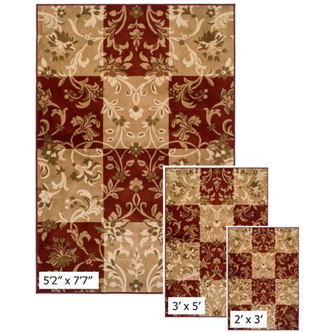 kmart area rug sets achim easton collection 3 area rug set checker vines sizes 5 2 quot x 7 7 quot 2 x 3 3 x