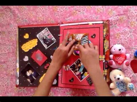 tutorial scrapbook anniversary scrapbook for boyfriend youtube