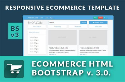 Ecommerce Responsive Bs3 0 V Website Templates On Creative Market Responsive Ecommerce Template Bootstrap
