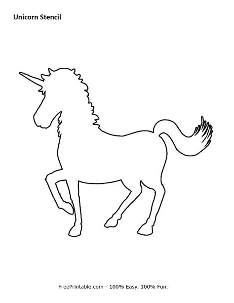 printable unicorn pattern customize your free printable unicorn stencil church