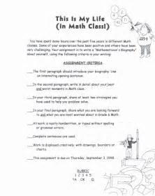 my in math class