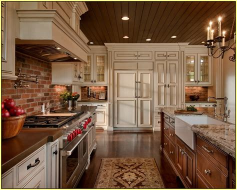 Brick Backsplash In Kitchen by Brick Backsplash Kitchen Home Design Ideas