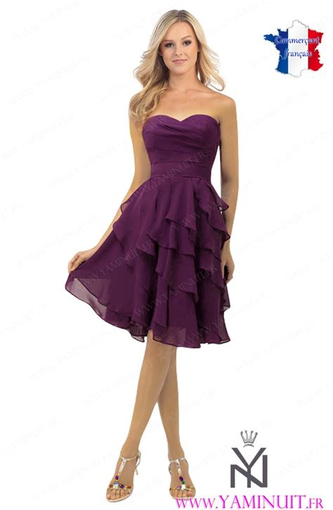 Robe Cocktail Longue Prune - robe de cocktail couleur prune