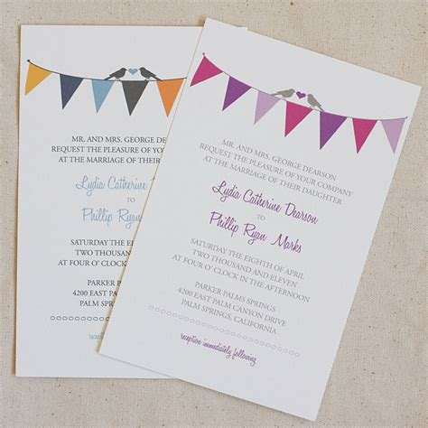 printable wedding invitation kits free bunting wedding invitation printable paper prints