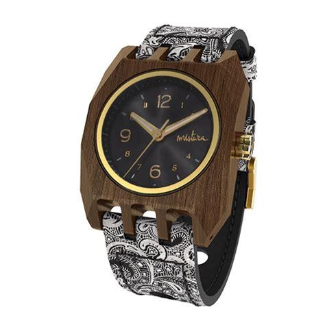 mistura wooden watches volkano mandala black pui classic