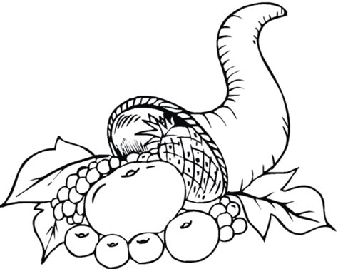 Horn Of Plenty Coloring Pages Horn Of Plenty Coloring Page