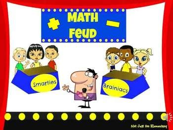 Math Feud Powerpoint Game For Middle School And Junior Family Feud Classroom