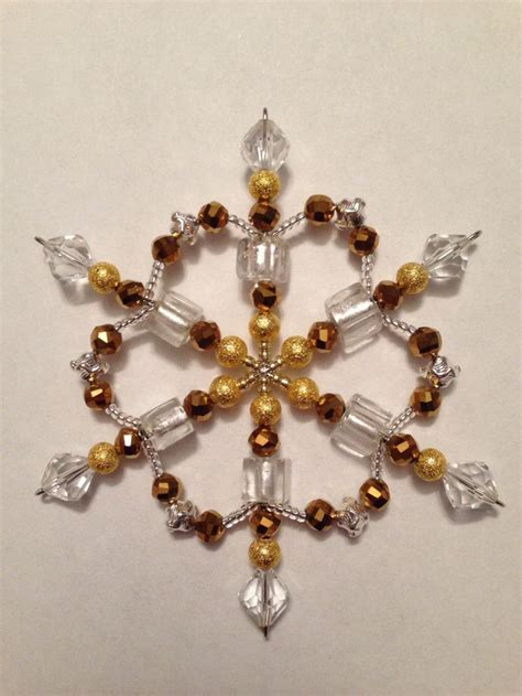 bead source beaded snowflake ornaments crafts