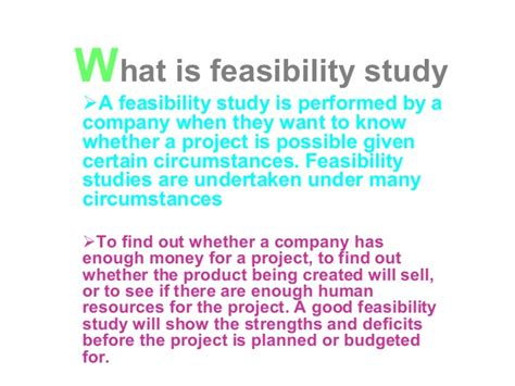 what is feasibility study and what is contracts and its type