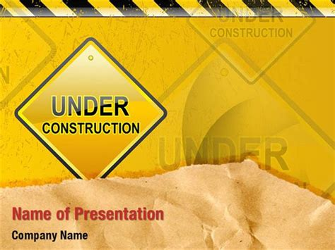 under construction powerpoint templates under