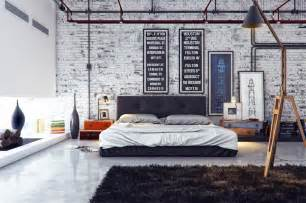 Industrial Style Bedroom by Industrial Bedroom 1 Interior Design Ideas