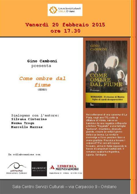 libreria mondadori oristano venerd 236 20 febbraio 2015 centro servizi culturali unla