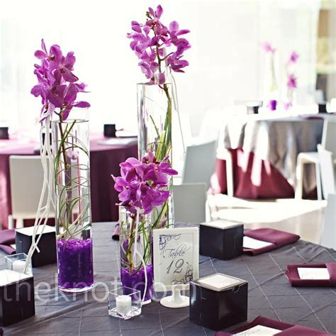 elegant tall orchid centerpieces wedding ideas pinterest