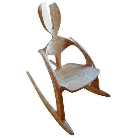 castle rocking chair wendell castle tiger maple rabbit ear rocker for sale